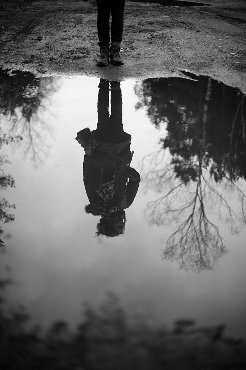Sesja zdjęciowa w lesie