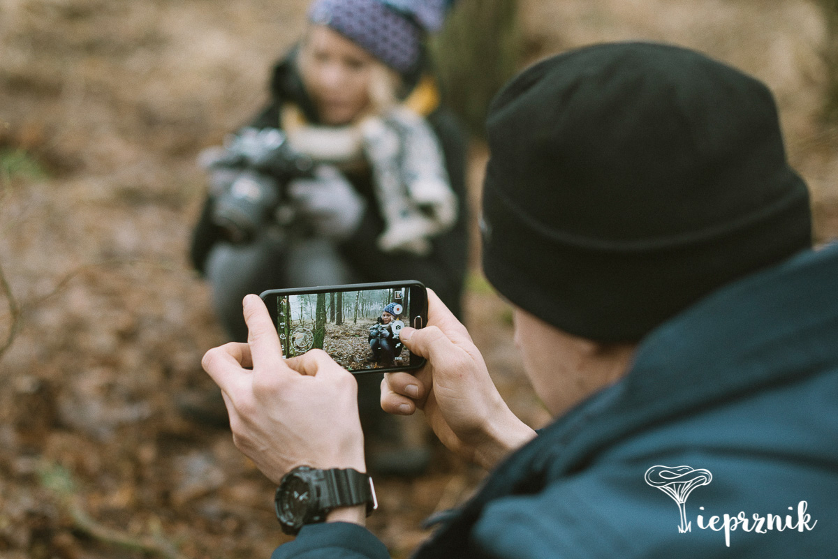 Fotografia w lesie